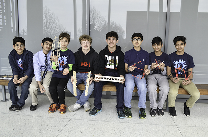 Next Generation School's teams who participated in the Bridge Contest.