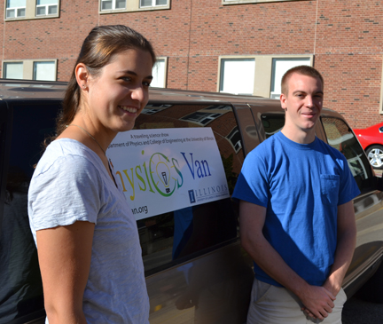 Katrina Litke and Scott Luedtke, 2013 Physics Van Coordinators