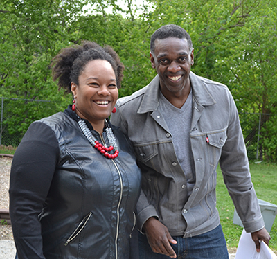 I-STEM evaluators Ayesha Tillman  and Marlon Mitchell