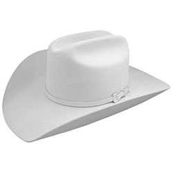 image of white cowboy hat (photo courtesy of Al-Bar Ranch:  http://www.al-bar.com/products.php?product_id=1263