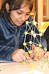 ChiS&E student makes toothpick-gumdroop structure