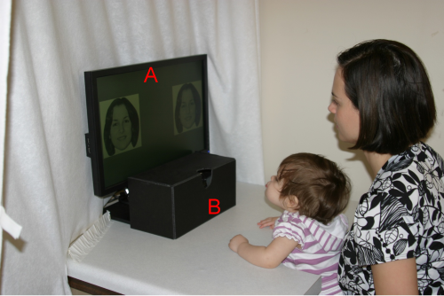 A baby's memory for faces is being tested