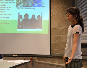 Narae Yoon of the Power House team during their final presentation.