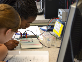 G.A.M.E.S. campers learn about electric circuits.
