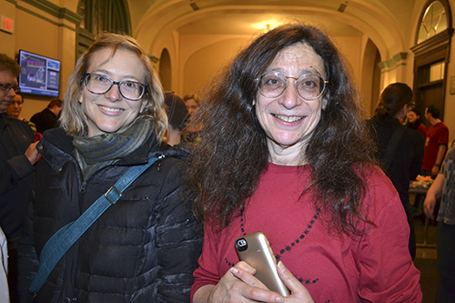Creater of the Insect Fear Film Festival, Professor May Barenbaum (right) and Integrative Biology Professor Katy Heath.