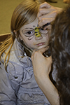 Local youngster gets her face painted at IFFF