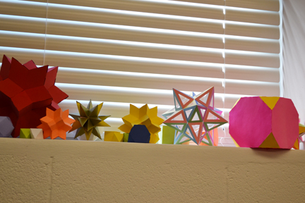 Assortment of shapes created at Illinois Geometry Lab