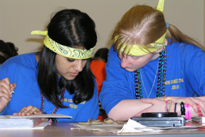 2011 Illinois Science Olympiad contestants participating in Fossils event.