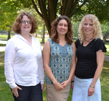 Merit Directors Tracey Hickox (Integrative Biology), Jennifer McNeilly (Math), and Gretchen Adams (Chemistry)