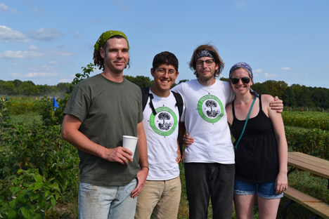 Permaculture representatives enjoy the field day.