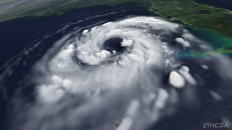 AVL's visualization of Hurrican Katrina forming helps scientists understand how storms form.