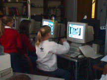 Students working in Bugscope.