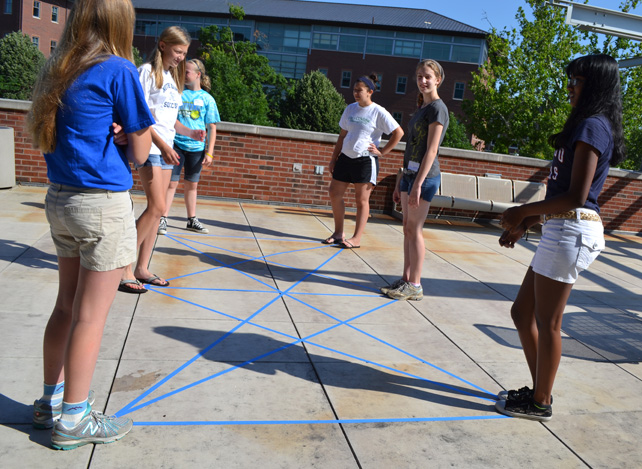 GEMS campers act as vertices in a life-sized graph.
