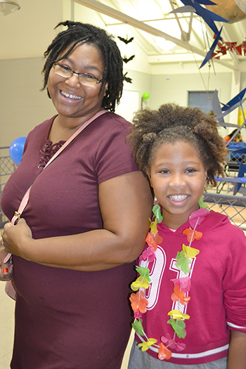 Local mother and daughter Ashanti and Camille Files enjoy the 2017 Mommy, Me, and SWE outreach.
