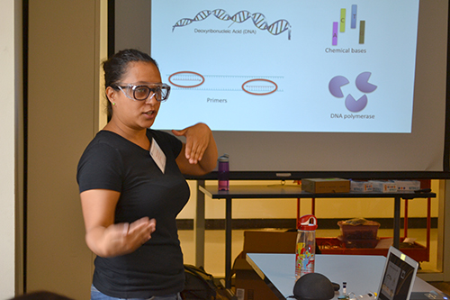 Estrada presents to the I-STEM campers