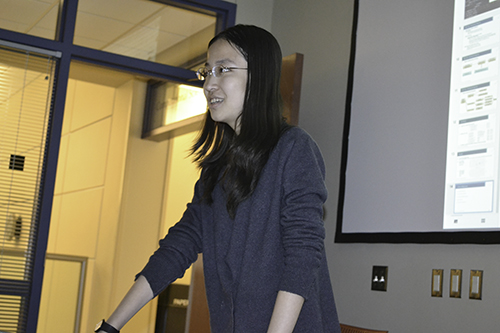 SPIN student Sijia Huo, a senior in Mathematics & Computer Science, Statistics, and Economics who is being mentored by Dr. Liudmila Mainzer, presents her Lighting Talk: Solving Complex Data Analytics Problems with Advanced Statistics