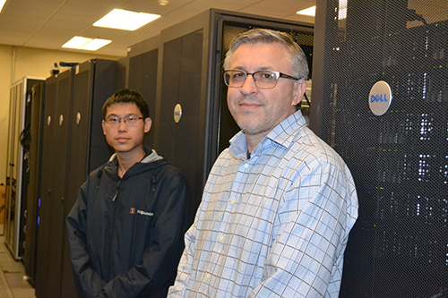 Computer Engineering senior Yan Zhan (left) and his mentor, NCSA's Volodymyr Kindratenko (right).